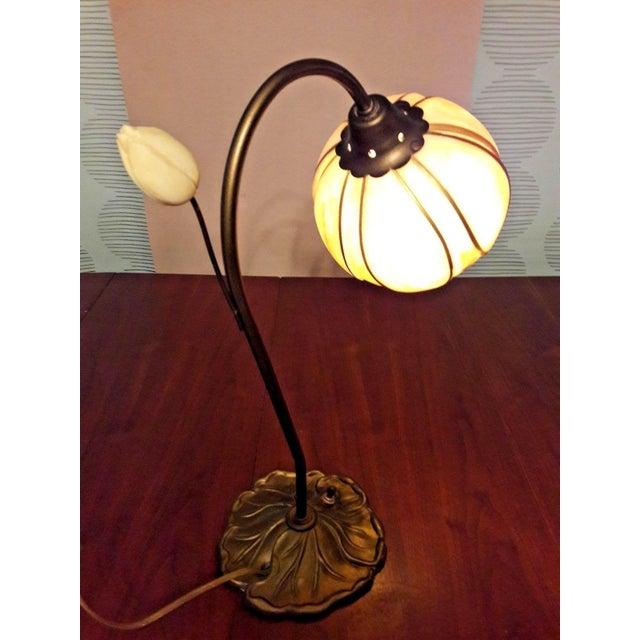 Mid-Century Faux Slag Tulip Desk Lamp - Image 3 of 7