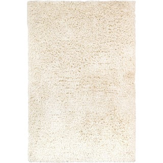 Pasargad Ivory Shaggy Area Rug - 4' x 6' For Sale