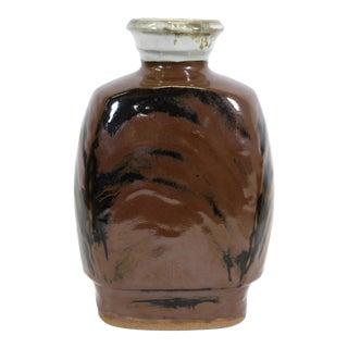 Shoji Hamada Attributed Japanese Mingei Kakiyu Glazed Vase For Sale