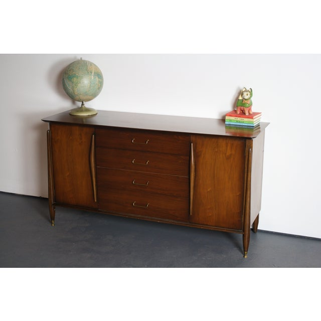 Huntley Mid-Century Modern Architectural Dresser For Sale - Image 11 of 11
