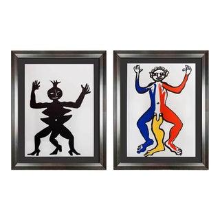 1970s Vintage Alexander Calder Original Color Lithograph - A Pair For Sale