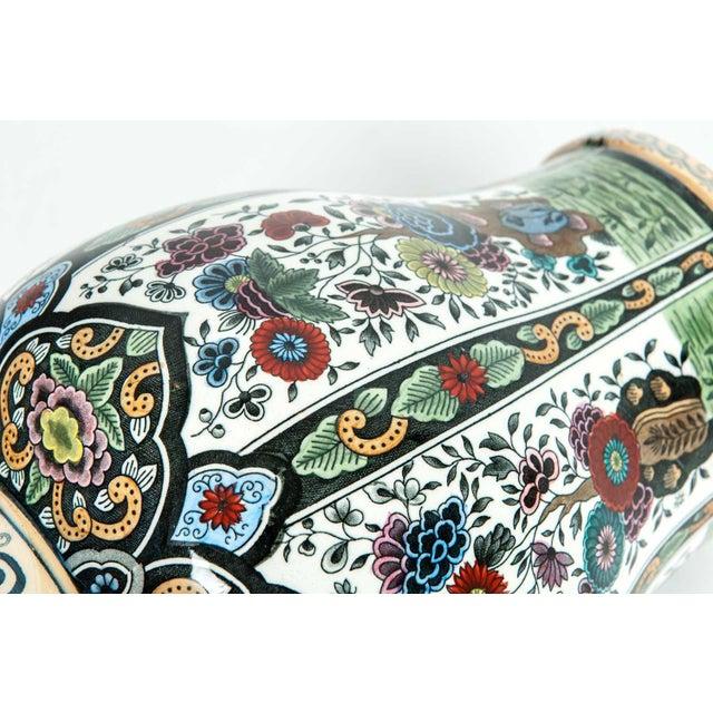 Vintage Dutch Porcelain Covered Urn For Sale - Image 4 of 13