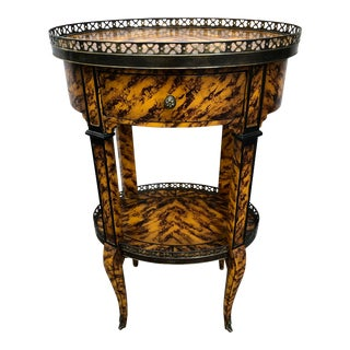 Vintage Louis XVI Theodore Alexander Delicate and Pierced Accent Table For Sale