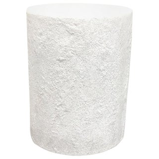 Cast Resin 'Dock' Stool and Side Table, White Stone Finish by Zachary A. Design For Sale