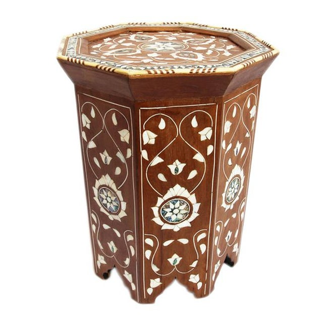 Moroccan Inlay Side Table For Sale