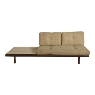 De Sede Leather and Travertine Sofa