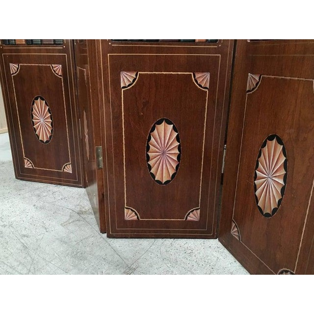 Brown 20th Century Leather Book Room Divider For Sale - Image 8 of 9
