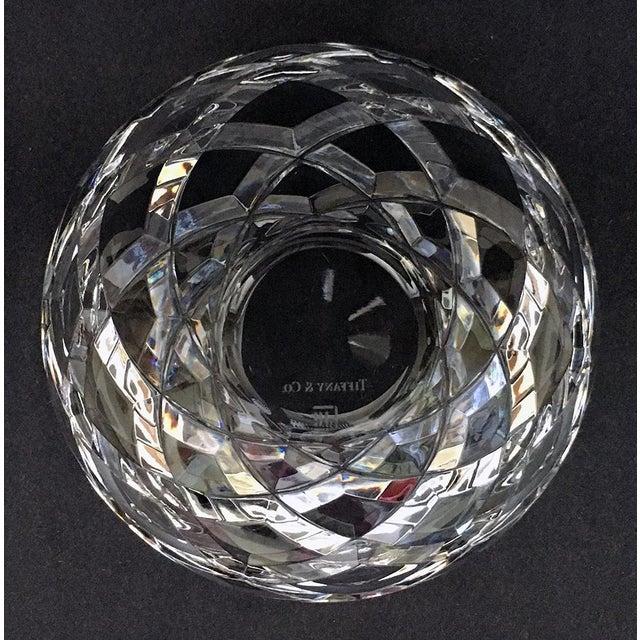 1980s Tiffany Diamond Cut Bowl For Sale - Image 5 of 6