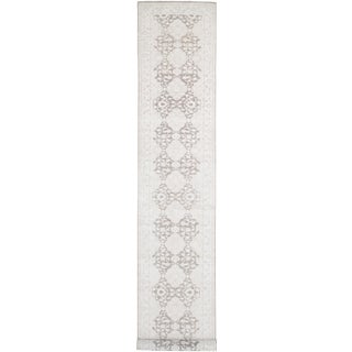 Pasargad Tabriz Hand-Knotted Beige Wool Runner Rug - 4′ × 30′ For Sale