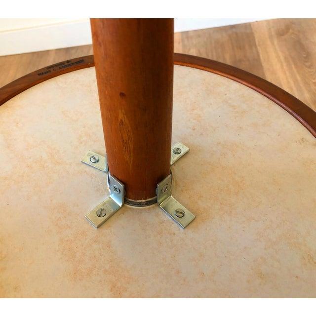 1960s Hans Anderson Mid-Century Danish Teak Pedestal Accent Table For Sale - Image 5 of 8