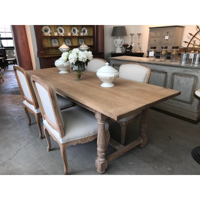 Oak French Antique Scrubbed Dining Table For Sale - Image 7 of 8