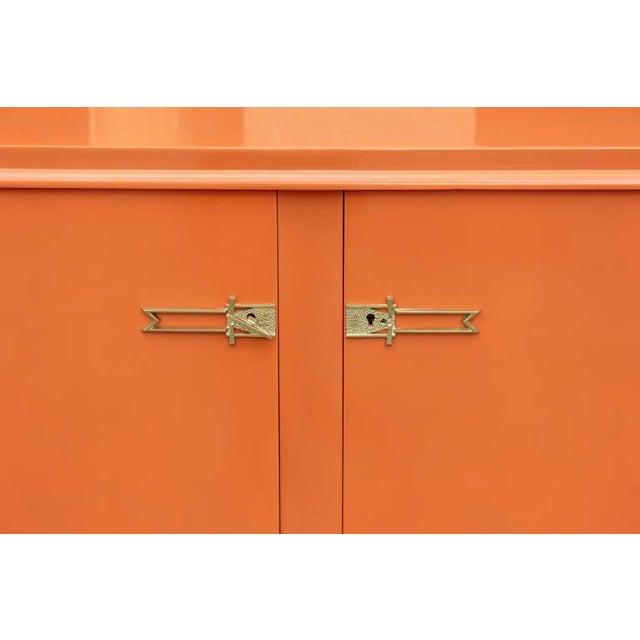 Art Deco Modern Orange Sideboard - Image 6 of 10