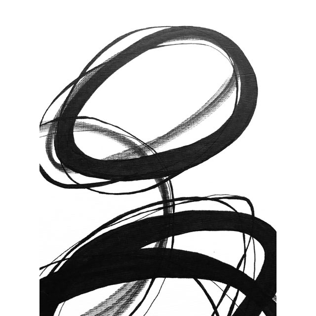 """2010s """"Alternating Rings"""" Original Mixed Media Drawing For Sale - Image 5 of 7"""