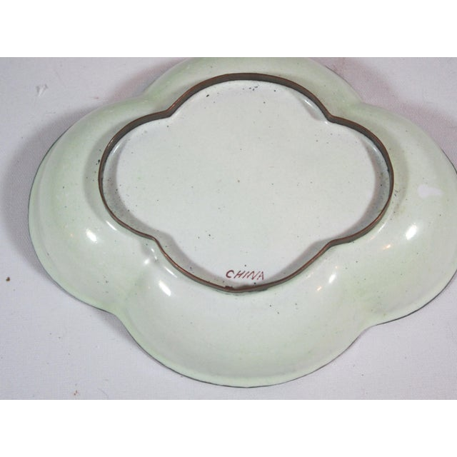 Floral Chinese Enamel Bowls - Set of 4 For Sale - Image 9 of 9
