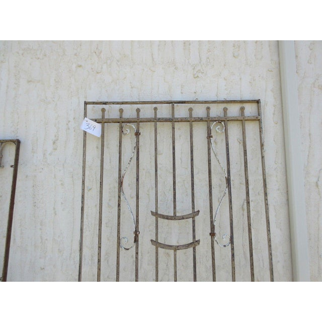 Cottage Antique Victorian Iron Gate For Sale - Image 3 of 7