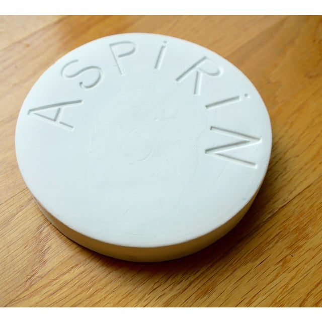 Vintage Mid Century Plaster Aspirin Paperweight For Sale - Image 10 of 10