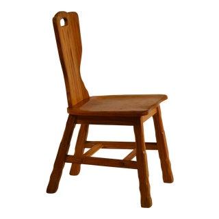 Vintage A. Brandt Co. Ranch Oak Side Chair For Sale