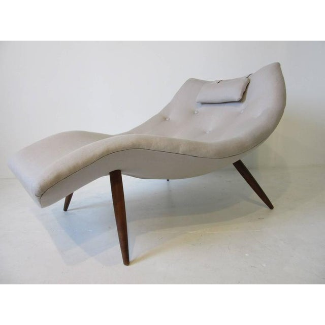 Textile Rare Adrian Pearsall Chaise Lounge Chair For Sale - Image 7 of 10