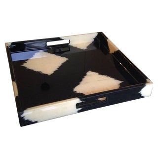 Ikat Lacquer Tray