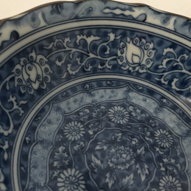 White Blue & White Chinese Porcelain Bowl For Sale - Image 8 of 11