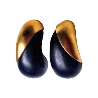 Modernist Givenchy Clip Earrings
