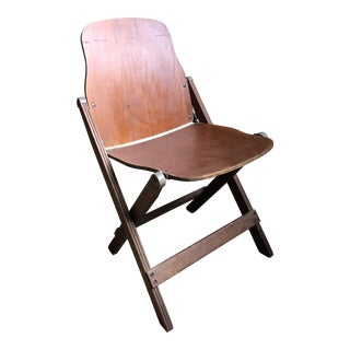 Mid Century Modern Walnut Folding Chair For Sale