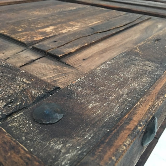 Rustic Wooden Coffee Table - Image 5 of 8