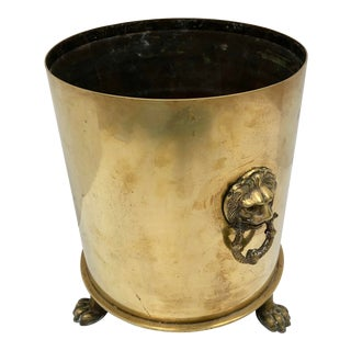 1917 German Brass Shell Casing Champagne Ice Bucket For Sale