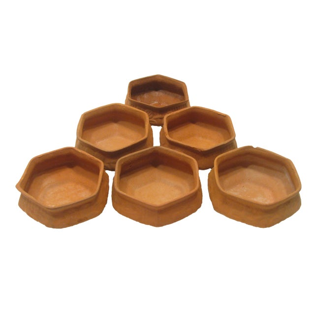 Terracotta Vessels - Set of 6 For Sale