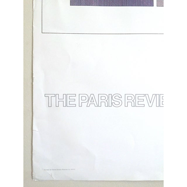 """Sol Lewitt Rare Vintage 1984 """"Paris Review 30th Anniversary"""" Original Silkscreen Print Limited Edition Poster For Sale - Image 9 of 13"""