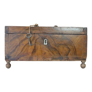 Late 19th Century Antique Burl Wood Box For Sale