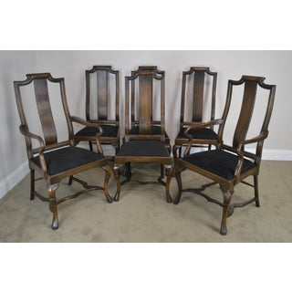 Provincial Style Italian Walnut Set 6 Custom Quality Dining Chairs Preview