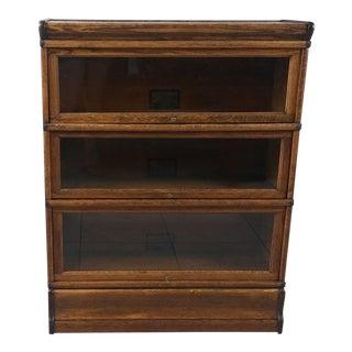 Globe Wernicke 3-Section Lawyer Bookcase