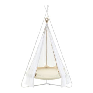 Kids Natural White Bambino TiiPii Bed and Stand For Sale
