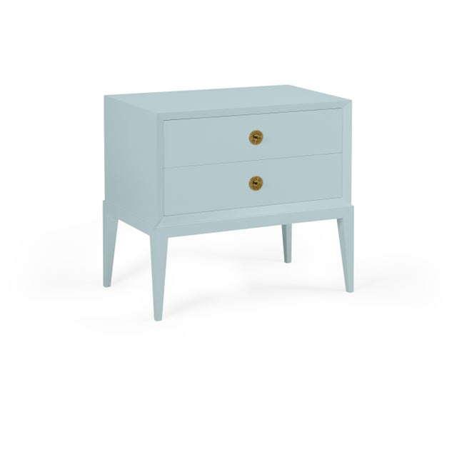 Transitional Casa Cosima Hayes 2-Drawer Side Chest, Smoke For Sale - Image 3 of 3