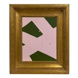 Image of Ron Giusti Mini Abstract Forest Light Pink Painting, Framed For Sale