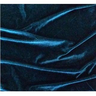 Gp & J Baker Teal Velvet Fabric For Sale