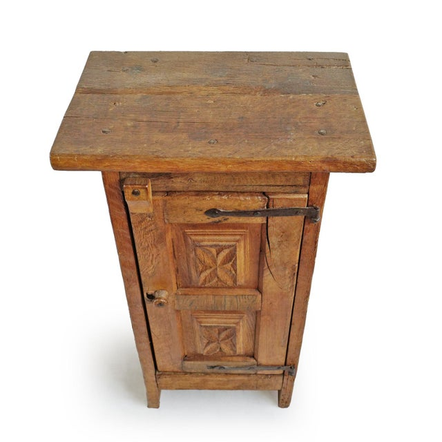 Boho Chic Vintage Mesquite Side Cabinet For Sale - Image 3 of 7