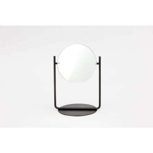 Not Yet Made - Made To Order Steven Bukowski Contemporary Harp Vanity in Blackened Steel For Sale - Image 5 of 5
