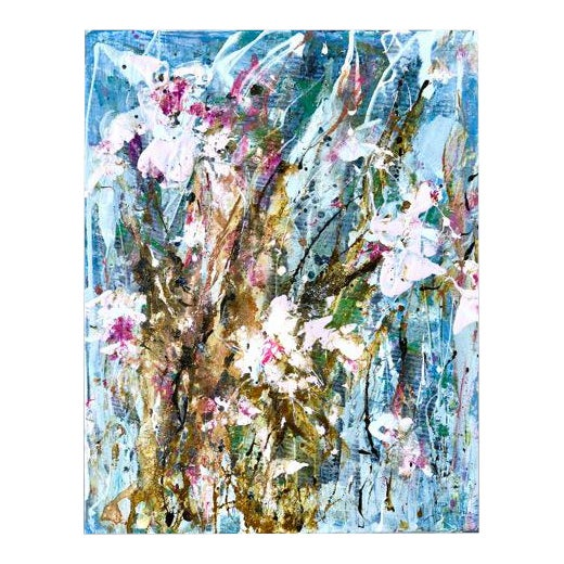 'Tulip Party 1' Mixed Medium Painting For Sale