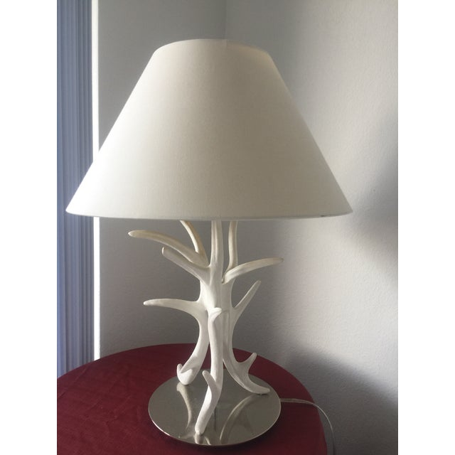 White Coral Branch Lamp For Sale In West Palm - Image 6 of 8