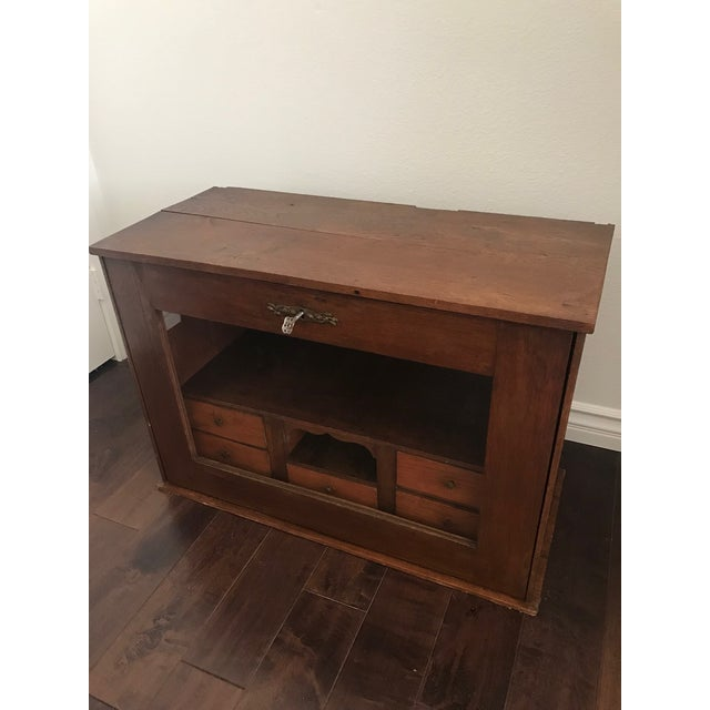 Glass 19th Century Traditional Cigar Humidor/Secretary Cabinet For Sale - Image 7 of 8