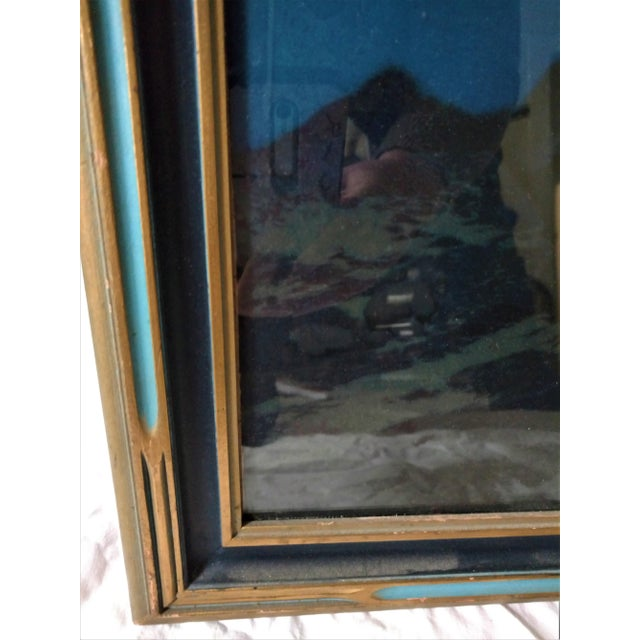 """Maxfield Parrish Framed Original Lithograph """"Stars"""", 1920's For Sale - Image 9 of 11"""