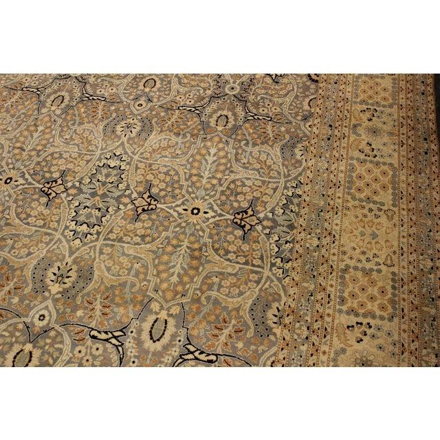 Textile Tabriz Pak-Persian Lacresha Lt. Blue/Beige Wool Rug - 9'0 X 11'11 For Sale - Image 7 of 8
