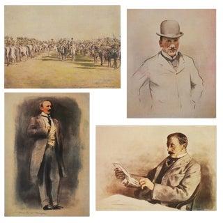 """1901 Mortimer Menpes """"Baron Alfred Milner"""" Original Period Lithographs- Set of 4 For Sale"""