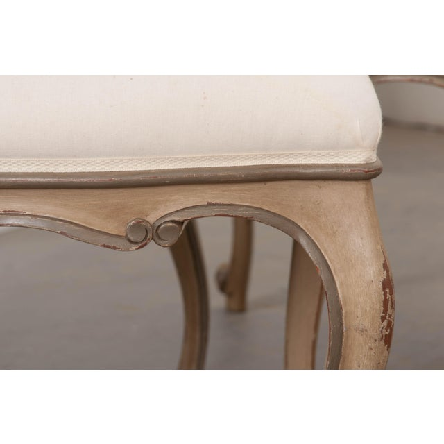 French Louis XV Style Reproduction Dining / Side Chairs - Set of 4 For Sale - Image 11 of 13