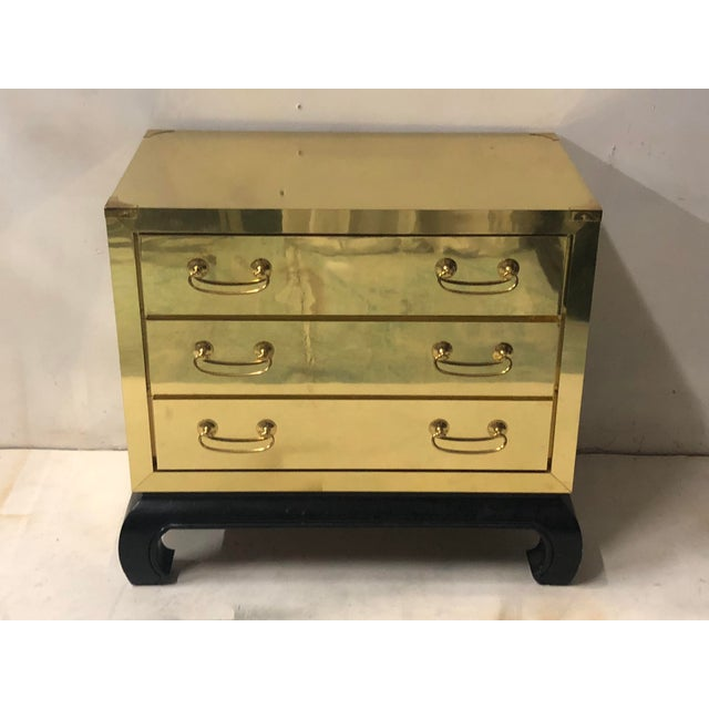 Asian Modern Style Brass Chest For Sale In Atlanta - Image 6 of 6
