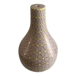 Raymor Italian Pottery Polka Dot Vase or Lamp For Sale