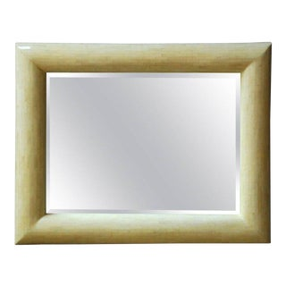 LargeTessellated Bone Beveled Mirror For Sale