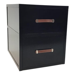 Hickory Chair Modern Black Wood Two Drawer Harrison File Cabinet For Sale